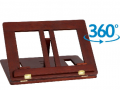 Atril madera giratorio nogal 35x24cm  AT40519