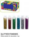 C/60 tubos purpurina 2 gramos 6 colores  PU88070