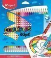 Est.24 lapices colores MAPED borrable  LA832824