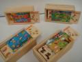 Jgo.domino madera 15x8x5cm 4 mod. JU177