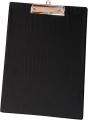 Pinza con placa a-4 PVC negra  PI80600