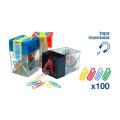 Portaclips imantado negro 100 clips colores    PO9079