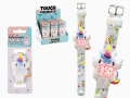 Reloj silicona touch led infantil unicornio  RE3357