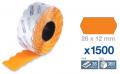 Rollo 1500  etiqueta 26x12 naranja  ET2612NA