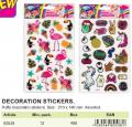 Sticker relieve flamenco/unicornio 21x14cm  ST80538